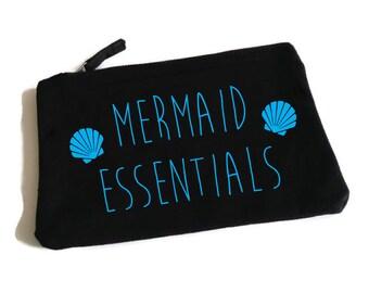 Mermaid Essentials Makeup Bag. Mermaid Bag. Mermaid Accessory Bag. Mermaid Makeup Bag. Mermaid Cosmetic Bag. I'm really a Mermaid.
