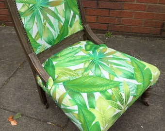 Re-upholstered Victorian Nursing Chair