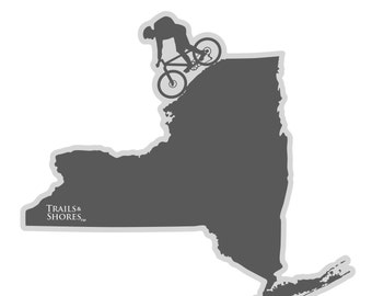 New York Mountain Biking Decal