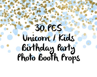Unicorn Photo Booth Props, Party Props, Photo Booth Props, Party Supplies, Party Decor, Party, Photo props, Baby Shower