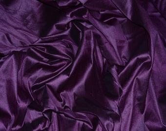 "55"" Wide - PLUM Premium Faux Silk Fabric - Shantung Dupioni Faux Silk Fabric - By the Yard"