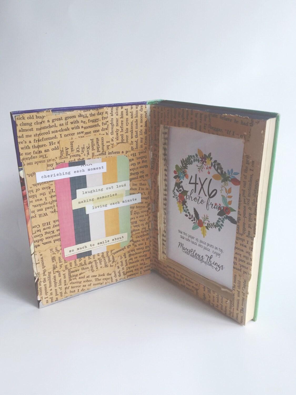 Cuadro marco libro foto marco arco iris Collage boda regalo ...