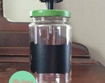 Pretty Upcycled Storage Jar - Medium