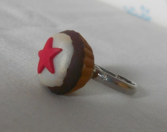 DM Starry Polymer Clay Cupcake Ring