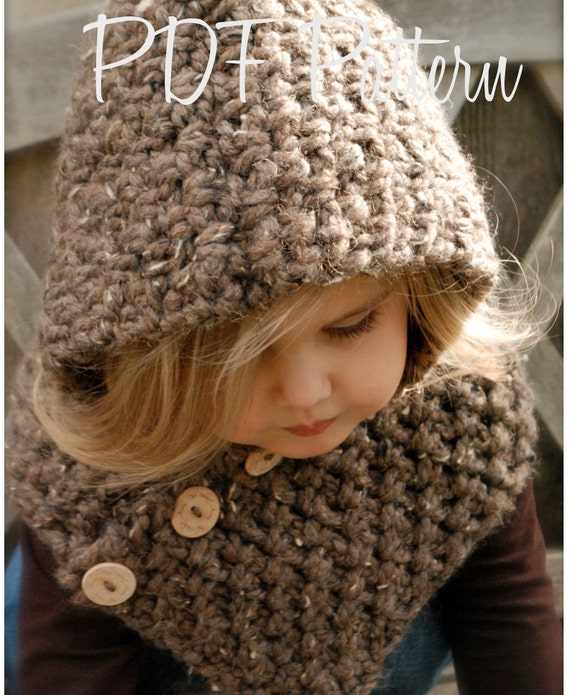 Crochet Pattern The Hampton Hood Toddler Child Adult Sizes