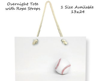 Baseball Tote Bag-Baseball Overnight Bag-Baseball-Canvas Shopping Bag-Weekend Tote-Snack Tote Bag-Coach Gift-Team Mom Gift Ideas