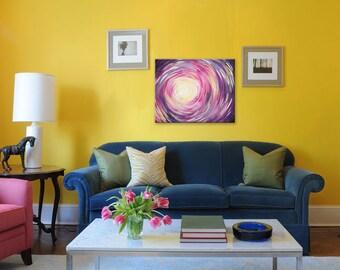Original Abstract Painting, Acrylic 16x20 Canvas, Modern Wall Art, FOCUS ON LIGHT