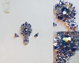 Bindi set with Swarovski crystals