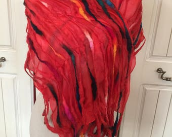 Silk habitat and pure wool hand dyed scarf