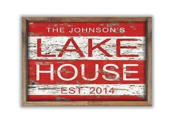 "Custom lake house sign 19.25""x13.25"" personalized lake sign lake decor lake house gift cabin decor custom gifts  personalized gift lake sign"