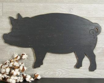 Rustic Pig Decor Farmhouse Pig Sign Farmhouse Decor Rustic Country Decor Pig Kitchen Decor Pig Wall Art Pig Gift Rustic Kitchen Pig Art