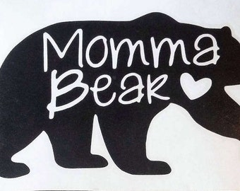 Momma Bear Decal
