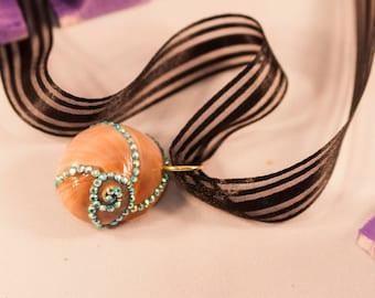 OOAK Secret Treasure seashell necklace