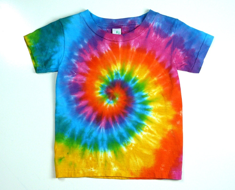 Well-known Infant Tie-Dye Tee Shirt Pink Rainbow Spiral Eco-friendly VE61