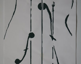 Silkscreen poster A3 - Violon d'ingres (thin paper, many colors)
