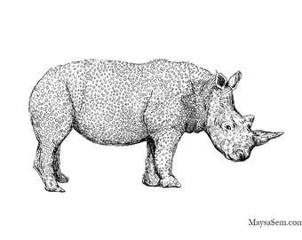 Rhinoceros - Art Print