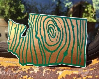 Washington Woodgrain Decal
