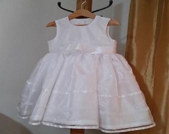 Model: JMCC-00018-B, dress baby girl dress child girl, white organza dress, dress of baptism, flower girl dress,