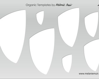 No 13 Clear Acrylic Template/Stencil for Polymer/Metal Clay/Jewellery/Crafting