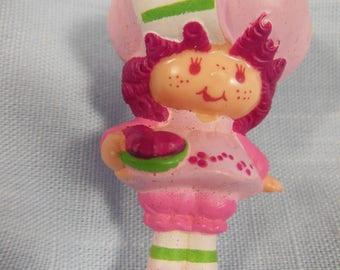 Vintage Strawberry Shortcake Miniature-Raspberry Tart-With A Bowl Of Raspberrys