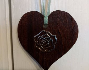 heart shape cut out with silver pendant great valentines gift