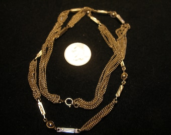 "24"" Gold Toned Multi Chain Necklace (1022)"