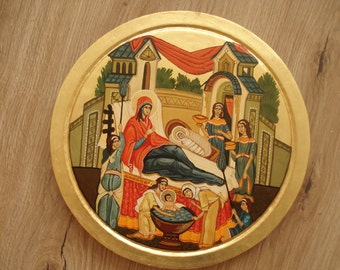 Nativity  of  The  Virgin  Mary,  Orthodox icon,orthodox gift, Byzantine icon,Russian icon