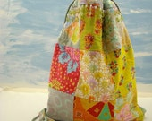 Faith Quilted and Beaded Patchwork Bag