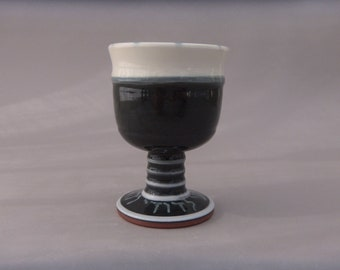 Jewish Wedding Ceramic Goblet, Pottery Wedding Gift