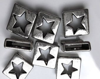 12 intermediaries star for 18mm leather cord