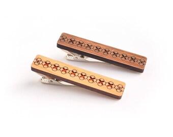 Wooden Tie Clip - Tie Bar - Modern Geometric Tie Clip - Wedding Tie Bar - Gift for Him