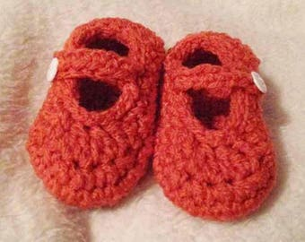 Crochet Baby Mary Jane Shoes