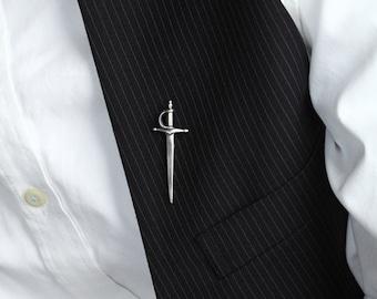 Sword Pin in Sterling Silver – Men's Lapel Pin