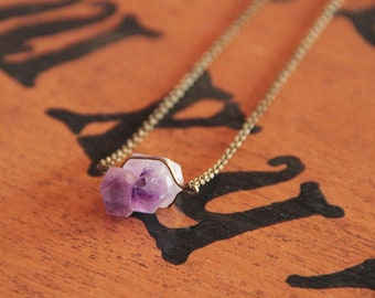 Bronze and Amethyst necklace
