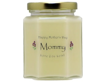 MOMMY Mother's Day Candles - You Select The Scent and Decoration - Mothers Day Gifts