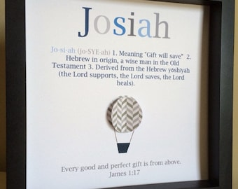 Name Meaning Art, 3D Paper Art, personalized baby gift, baby boy nursery, New baby gift, name definition, Bible Verse, Scripture