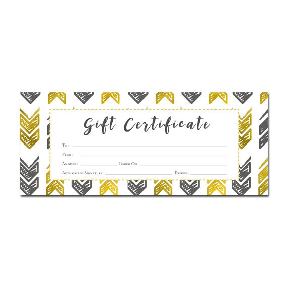 tribal gift certificate gift certificate template gift for him gifts for menfathers dayanniversary gifts for boyfriendprintablegift from cafeink on