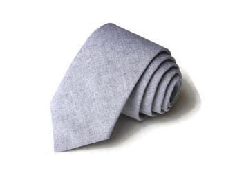 Navy Chambray Necktie~Anniversary Gift~Wedding Tie~Boys Necktie~Mens Necktie~Wedding~Mens Tie~Boys Tie~Chambray Tie