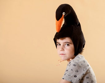 black Swan hat for boys, Christmas Gift, costume, Playtime costumes, kids dress up, handmade costume,  Halloween costume, carnival costume
