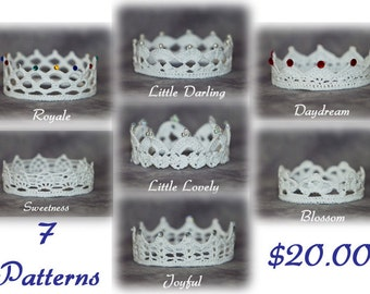 PATTERN BUNDLE - All 7 Gingersnap Boutique Crochet Crown Patterns