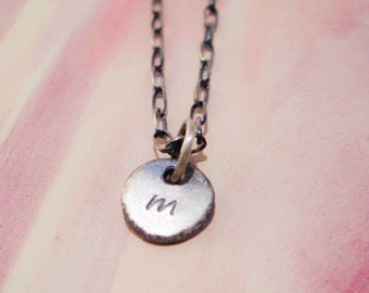 Organic Monogram Necklace in Recycled Sterling Silver
