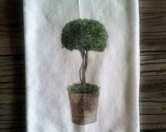 Topiary Flour Sack Towel