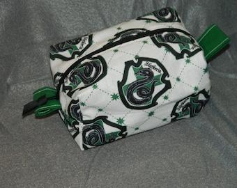 Slytherin Make up/Accessory/Travel Bag