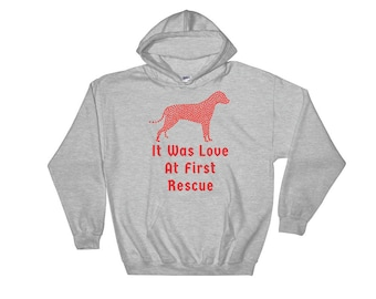 It Was Love At First Rescue Hooded Sweatshirt