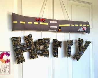 Room/wall/door hanging cotton name decoration