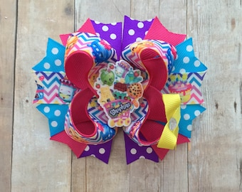 Shopkins Bow-Shopkins Birthday Bow-Shopkins -Shopkins Party