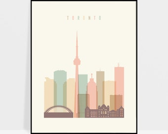 Toronto art, Toronto print, Toronto wall art, Toronto poster, Canada skyline, Travel print, Typography art, Home Decor, ArtPrintsVicky