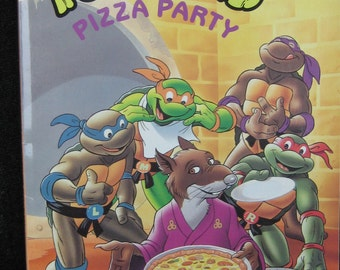 TMNT PIZZA PARTY Book 1991 by Eleanor Hudson, Random House