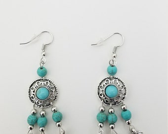 Bohemian Hippie Dreamcatcher Earrings