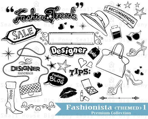 Fashion Clip art, modern Clip art, woman Clip art, handbag clip art, fashion blog Clip Art, lipstick clipart, cosmetics clip art